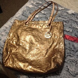 Michael Kors Gold Purse Bag Tote